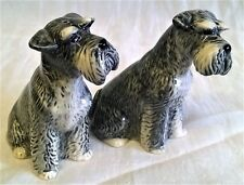 QUAIL SCHNAUZER DOG SALT & PEPPER POTS CONDIMENT OR CRUET SET - ANIMAL FIGURES