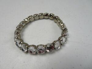 Black /& Topaz Rhinestones Vintage  Stretch Bracelet