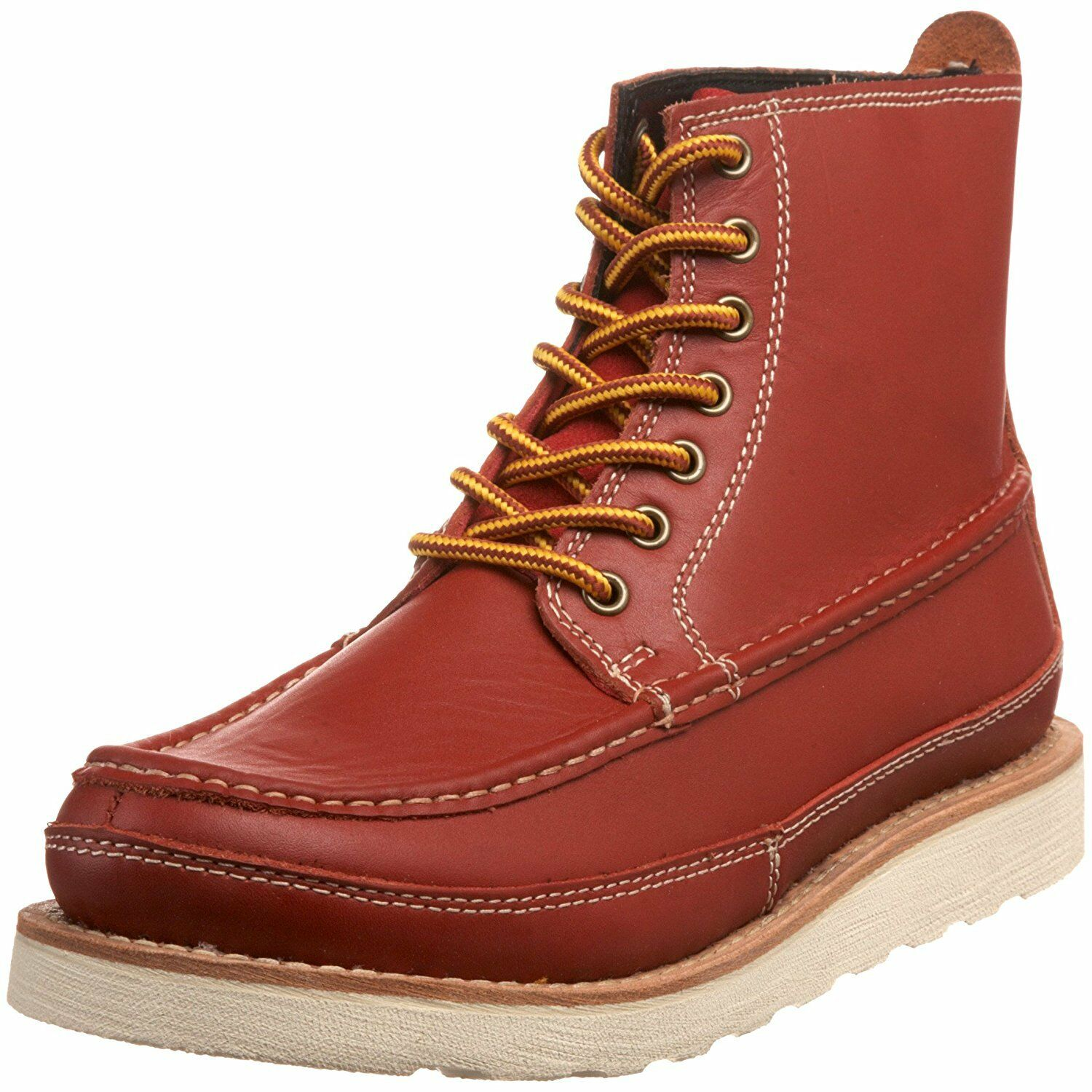 JUMP Deluxe Men's Barker LTD Leather Boot,Cherry Size US 12   140