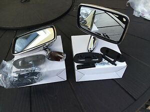 Mini Tex Style Door Mirrors , Stainless Steel Complete With Fix Kits