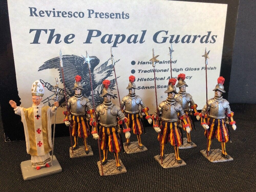 Reviresco Toy Soldier The Papal Guards & Pope John Paul II 54mm Scale