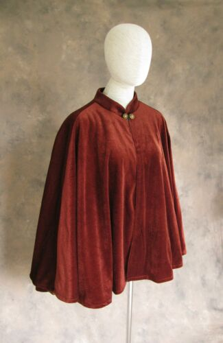 Short Cloak Victorian Capelet Velvet Half Cape Fashion Shawl Medieval Costume