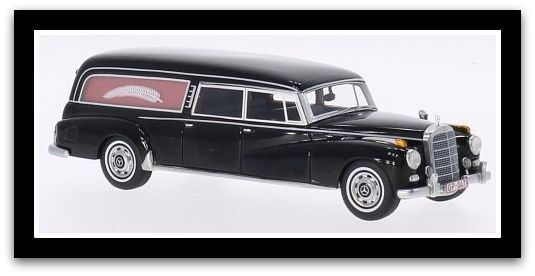 Merveilleux BOS-MODELCAR Mercedes-Benz 300d Pollmann corbillard 1959-noir - 1 43