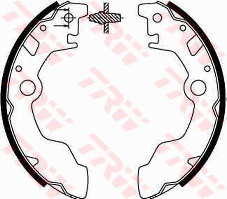 GS8583 TRW Brake Shoe Set Rear Axle