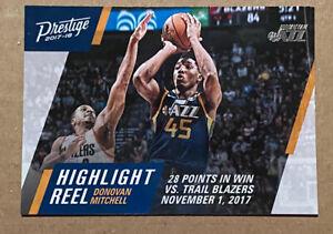 Donovan-Mitchell-RC-2017-18-Panini-Prestige-Rookie-Highlight-Reel-Utah-Jazz-10