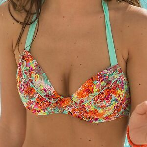 d85030fe8 Pour Moi Santorini Padded Halter Underwired Bikini Top -Multi (70000 ...