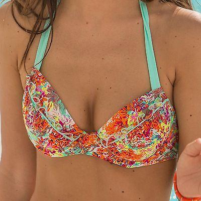 Hart Arbeitend Pour Moi Santorini Padded Halter Underwired Bikini Top -multi (70000) Ein Unbestimmt Neues Erscheinungsbild GewäHrleisten