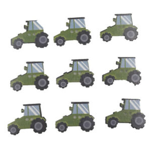 HD-50Pcs-Mini-Tractor-Wooden-Buttons-Sewing-Scrapbook-Cards-Needlework-DIY-Deco