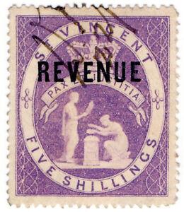 I-B-St-Vincent-Revenue-Duty-Stamp-5-1884