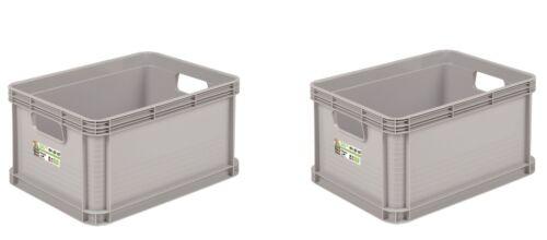 2 X Caja Robusta 20L Gris Caja de Almacenamiento Caja