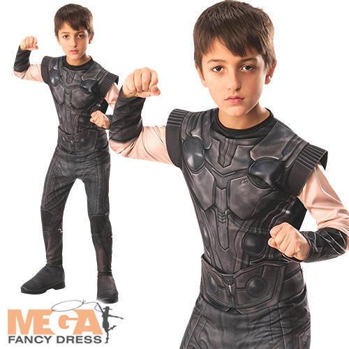 Infinity War Thor Boys Fancy Dress Avengers Superhero Childrens Kids Costume