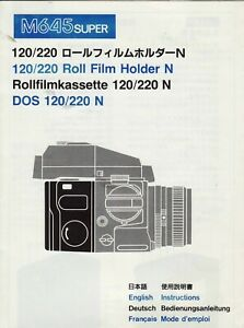 Mamiya-645-Super-Pro-120-Roll-Film-Holder-N-Genuine-Instructions