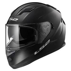 LS2-Stream-EVO-FF320-Gloss-Black-Full-Face-Motorcycle-Motorbike-Helmet