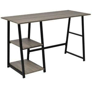 vidaXL-Computer-Laptop-Desk-Study-Table-Workstation-Storage-Shelves-Home-Office