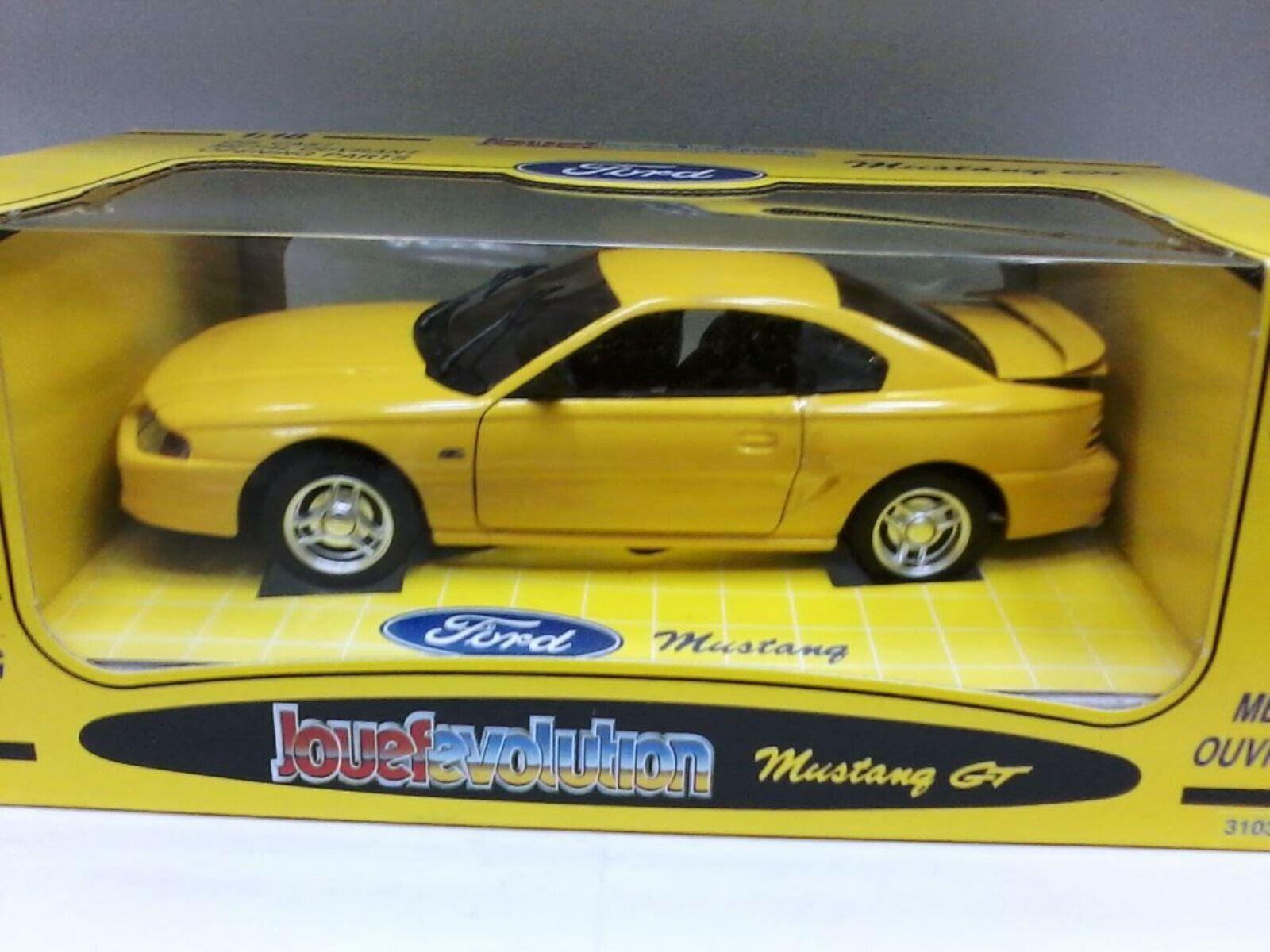 Wow Wow Wow extrêmement rare Ford Mustang GT 1994 5.0 L V8 coupé jaune 1 18 Jouef-AUTO ART 1ef366