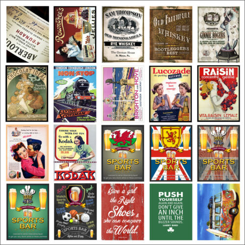 Various Retro Tin Metal Novelty Replica Signs Home Bar Kitchen Man Cave Shed M57