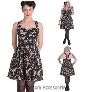 62d116a668904 Image is loading RKP87-Hell-Bunny-Ice-Scream-Mini-Dress-Rockabilly-