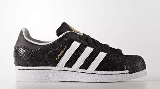 super popular 8c029 6110a Adidas Originals Superstar Reptile J Youth Size 7 Shoes BlackWhite S76995  NEW!