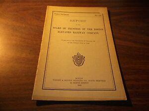 1920 BOSTON ELEVATED RAILWAY COMPANY TRUSTEES REPORT