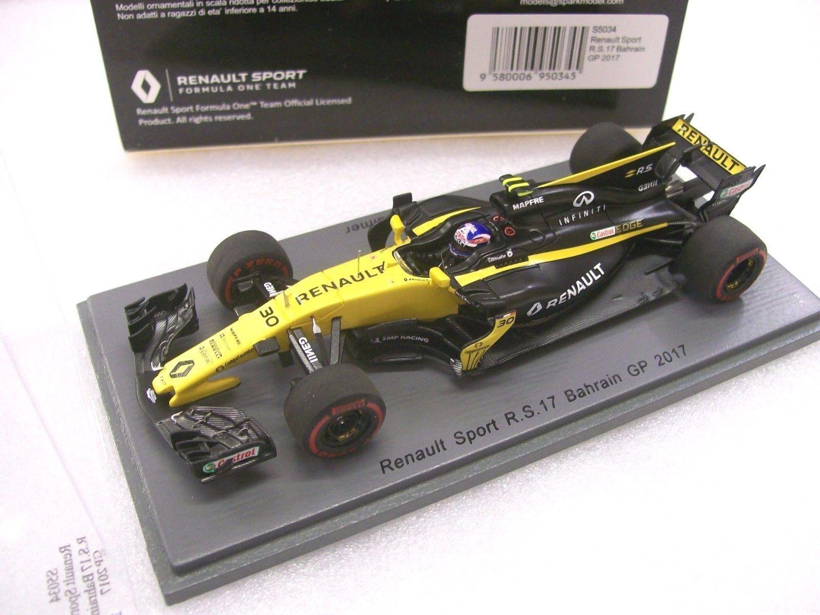 F1 Palmer Renault R.S.17 Bahrain GP 2017 1/43 Spark S5034