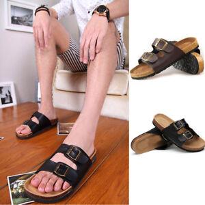 Men-Fashion-Flip-Flops-Buckle-Cork-Beach-Summer-Slipper-Sandals-Shoes-Slip-On