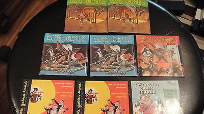 GREMLINS LOT OF 5 RARE SEALED  1984  45'S & BOOKS + BONUS  1949 45,S    J26