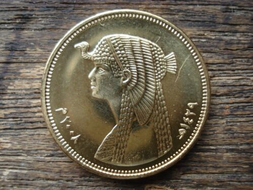 Cleopatra Version Original Antique Ancient Egyptian 50 Piasters Coin Age 7-20