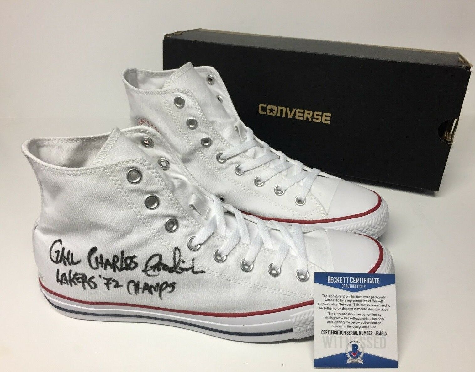 Gail Goodrich Signed Converse All Star Basketball Shoes