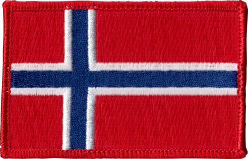 9908 Norvège Pavillon Norvégien Scandanavian Rouge Blanc Bleu sew iron patch badge NEUF