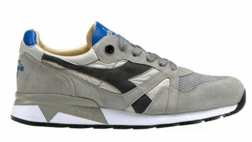 Scarpe uomo Diadora Heritage H S SW N9000 75072 grigio sneakers camoscio pelle