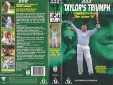 CRICKET ~TAYLORS TRIUMPH HIGHLIGHTS FROM THE ASHES 97 ~VHS PAL VIDEO~