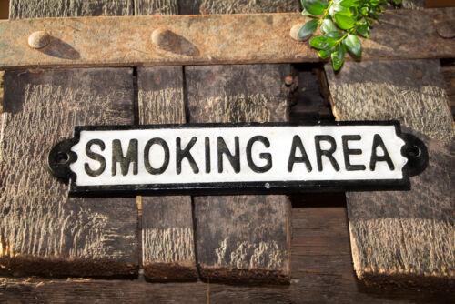 "Nostálgica escudo /""smoking Area/"" de hierro fundido"