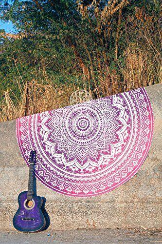 "Indian Roundie Mandala Tapestry Indian 48/"" Round Hippie Beach Towel Yoga Mat 72/"""
