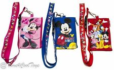 (3ct) Disney ID Holder iphone Lanyards with Detachable Coin Purse