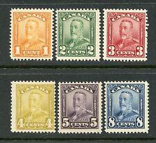 CANADA 1928-29 DEFINITIVES 1c - 8c NH #149-54