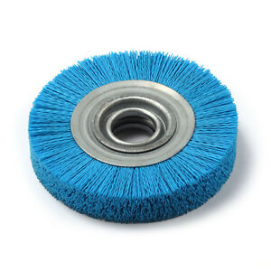 8 Nylon Abrasive Wheel Brush 32mm Bore Diameter Polish
