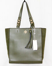 item 4 NWT  658 TORY BURCH Brooke Leather Tassel Tote 43716 Leccio Green w   Gold Hdwr -NWT  658 TORY BURCH Brooke Leather Tassel Tote 43716 Leccio Green  w  ... 0eec0f6b70