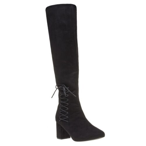 Womens Knee high Microfibre Dolcis Zip Boots New Emma Black pFAnAaW