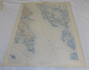 Chesapeake Bay Topographic Map.1906 Topographic Map St Mary Quadrangle Md Va Chesapeake Bay