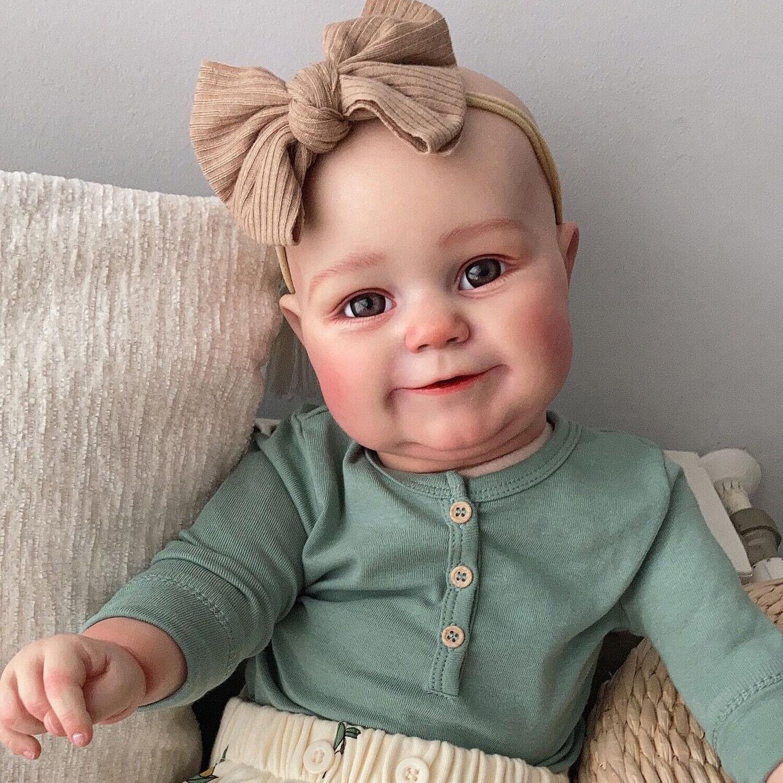Realistic Silicone Reborn Babies Lifelike Newborn Baby Dolls Soft Vinyl Handmade