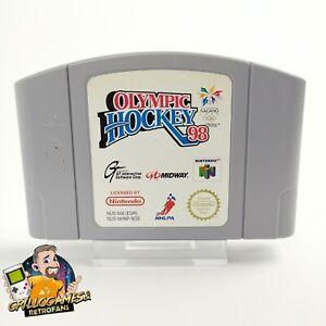 """Juego de Nintendo 64 """" Hockey Olímpico 98 """" N64 / N 64 ? Módulo / Cartucho ? PAL NOE"""
