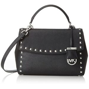 757a4253ca70 Michael Kors Ava Stud 30t6sa6s1l Black Small Satchel Leather Bag Purse