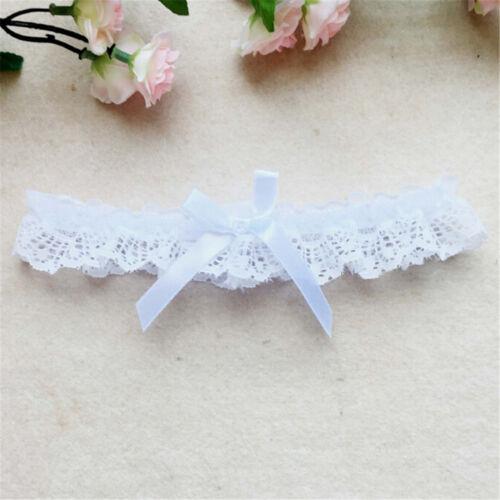 Women Bridal Elastic Lace Bowknot Garters Leg Belt Wedding Party AccessoriesS JM