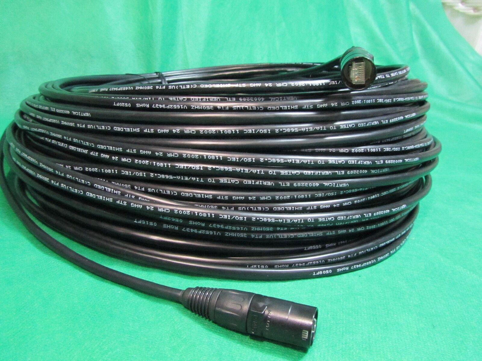 125 Pies Cat 5e Stp Blindado Ethernet Cable Negro Negro Negro w neutrik Ethercon RJ45 enchufe. b7fb22