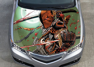 Deathstroke Car Hood Wrap Color Vinyl Sticker Decal Fit Any Car EBay - Vinyl wrap for motorcycle helmets