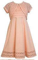 Bonnie Jean Girls Spring Easter Linen Lace Dress & Jacket Set 4 5 6 6x