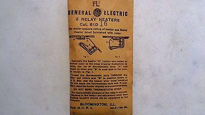 81D252 GE Overload Heater Relay