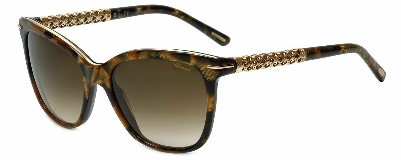 Chopard Designer Sunglasses SCH207S-09GF in Brown Havana with Brown Gradient Len