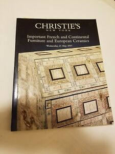 Christie S New York Auction Catalog Important French And Continental Furniture Ebay