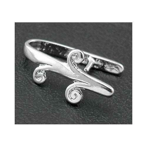 Brass Oval Ice Pick Pinch Bails Platinum 10 x 18mm  4 Pcs Findings Jewellery
